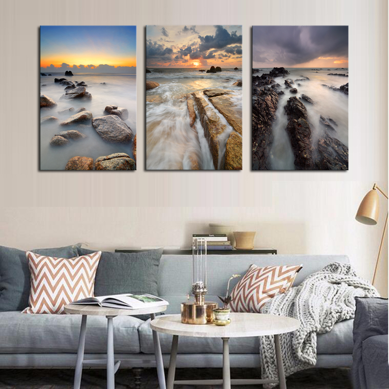 Canvas Painting Unframed 3 Sets Canvas Painting Stone