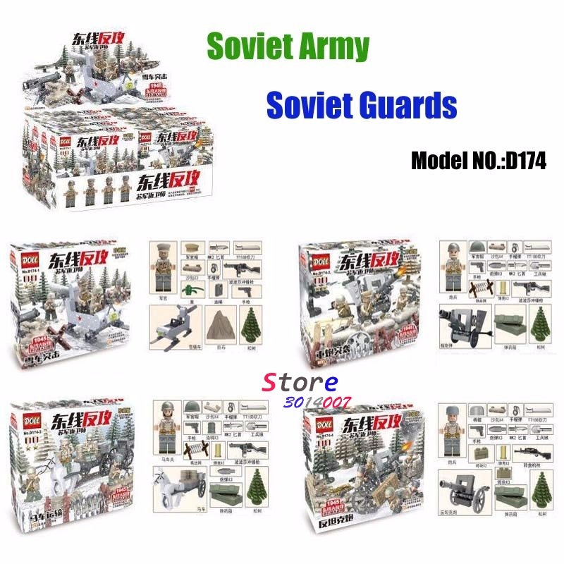 World War 2 East Line 1945 Battle Soviet Union Army Soldiers Military Weapons Model Building Blocks Brick  toys for children toys union напольная мозаика рыбка 25 деталей д 58 мм toys union