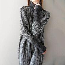 купить!  Осень Зима Длинные Свитера Водолазки Для Женщин Мода Лоскутная Одежда С Длинным Рукавом Повседневна