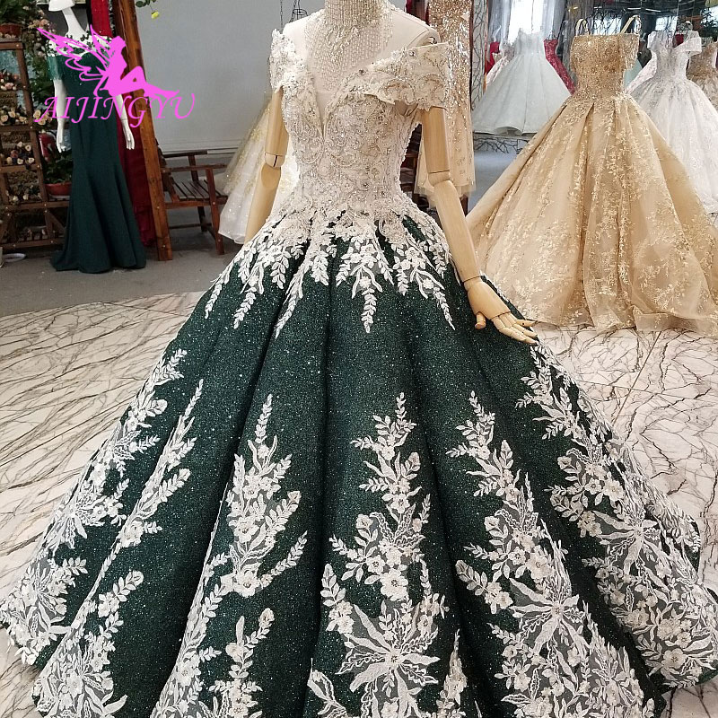 AIJINGYU Suzhou Wedding Dress China Muslim Gowns Wholesale Cheap Affordable With Sleeves Luxury Black Gown Navy Wedding Dresses
