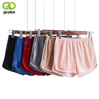 GOPLUS Women Shorts 2020 Spring Summer Loose Casual Colorful Elastic Waist Pantalones Cortos Mujer High Waist Velvet Shorts