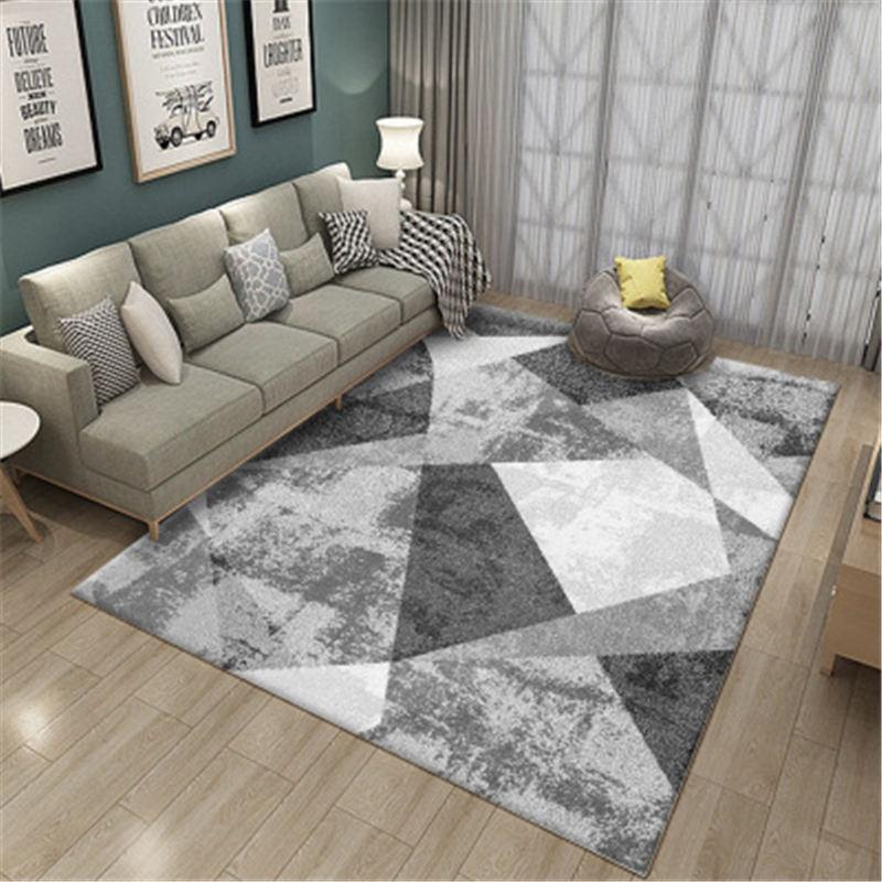 Large Size Living Room Rugs Geometric Modern Striped Carpets