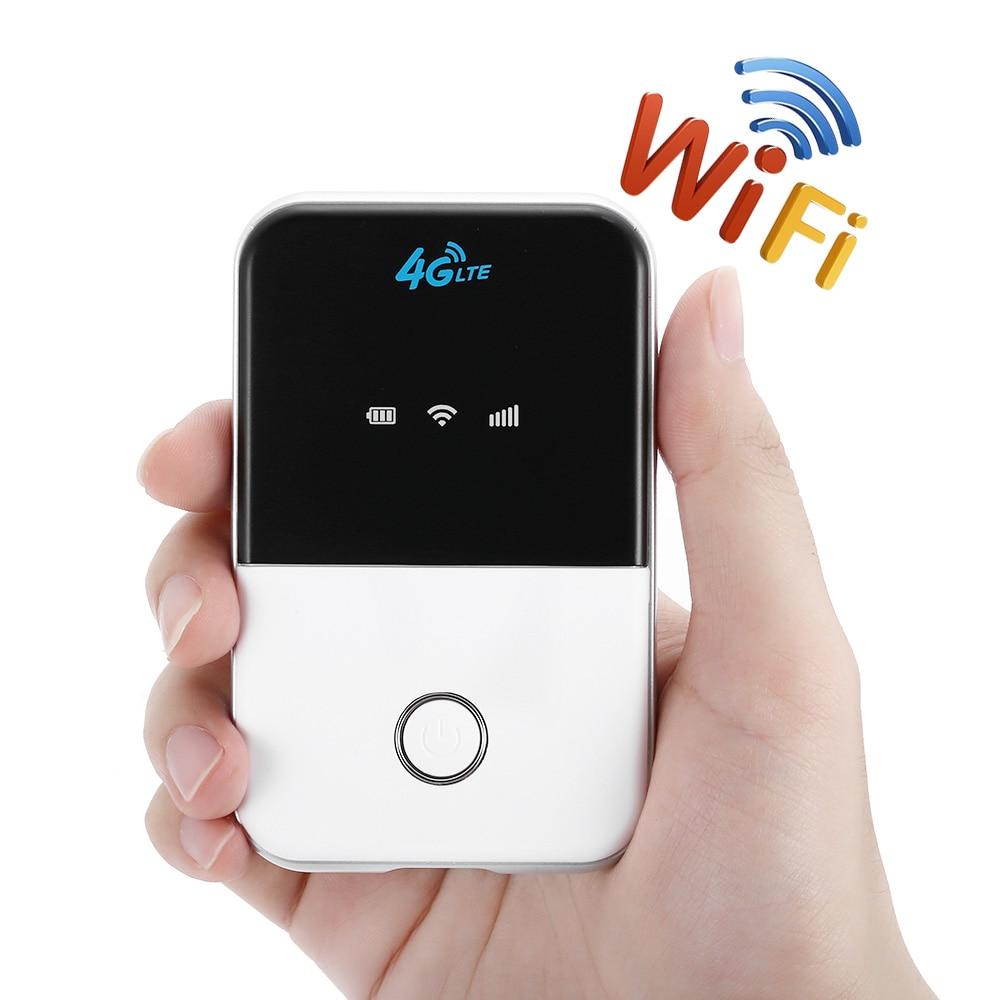 2100 mAH batterie 3G/4G routeur sans fil voiture Mobile Wifi Hotspot haut débit Mifi avec fente pour carte SIM Support 10 wifi partage