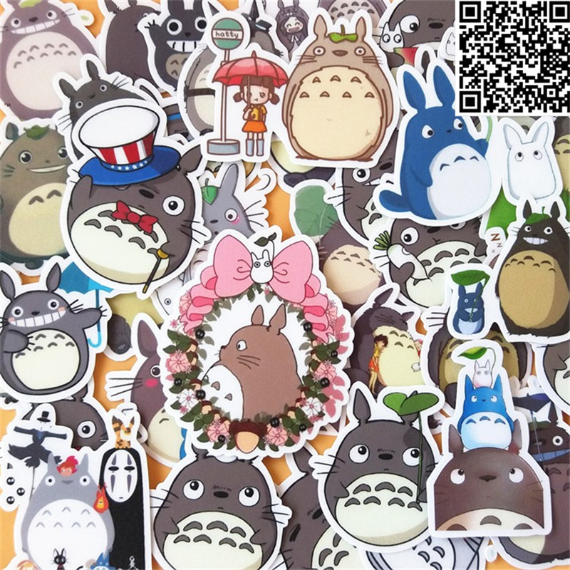 Купить с кэшбэком 40 pcs Cartoon chinchillas  Sticker for Luggage Skateboard Phone Laptop Moto Bicycle Wall Guitar/Eason Stickers/DIY Scrapbooking