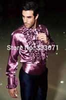 Latest Coat Pant Designs Purple Men Shirt Formal Slim Fit Tuxedo Shirts Italian Dinner Costume Romantic Blazer Men Suit Terno Q