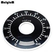 1000 pces 0 100 escala de botão do potenciômetro wth118 escala digital pode ser equipado com wx112 topvr