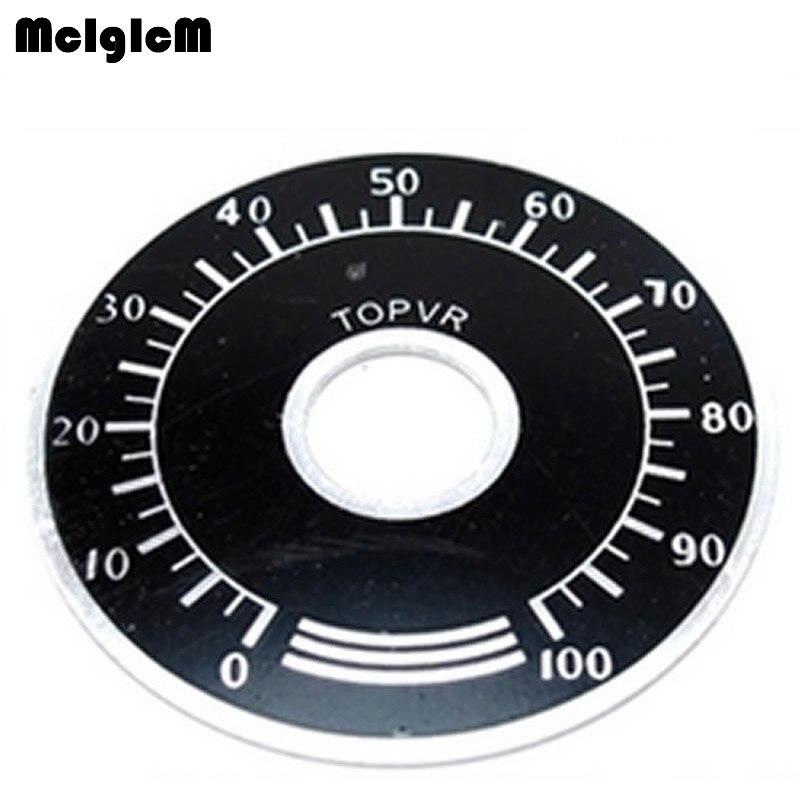 10Pcs 0-100 WTH118  WX112 RV24YN Potentiometer Knob Scale Digital Scale  G3D