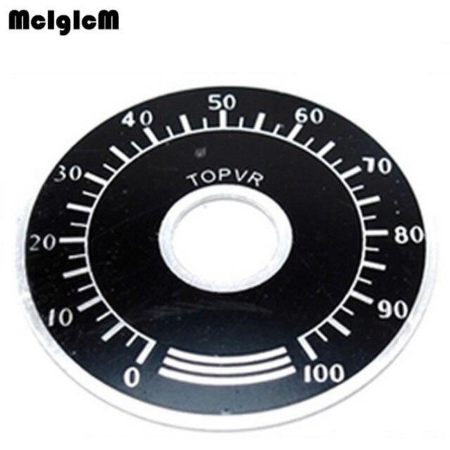 1000pcs 0 100 WTH118 פוטנציומטר knob בקנה מידה דיגיטלית בקנה מידה יכול להיות מצויד WX112 TOPVR