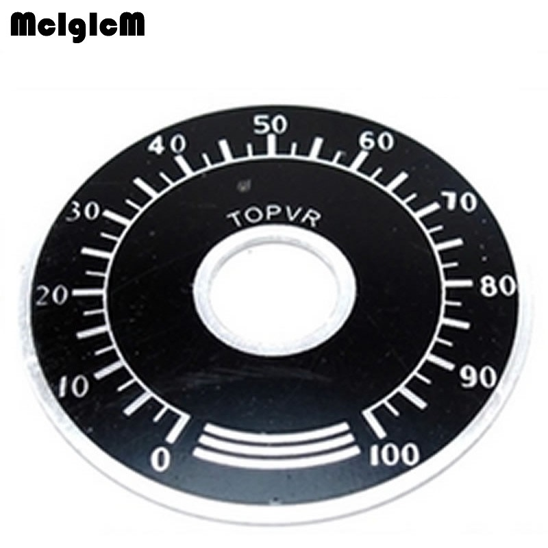1000pcs 0 100 WTH118 potentiometer knob scale digital scale can be equipped with WX112 TOPVR-in Potentiometers from Electronic Components & Supplies