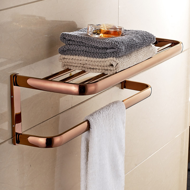 New classic solid brass bathroom towel holder wall mounted - Bathroom towel holders accessories ...
