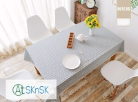Hot Sell Simple Modern Coffee Plaid Table Fabric Rustic Pastoral Table Cloth Home Decoration Lace Edge