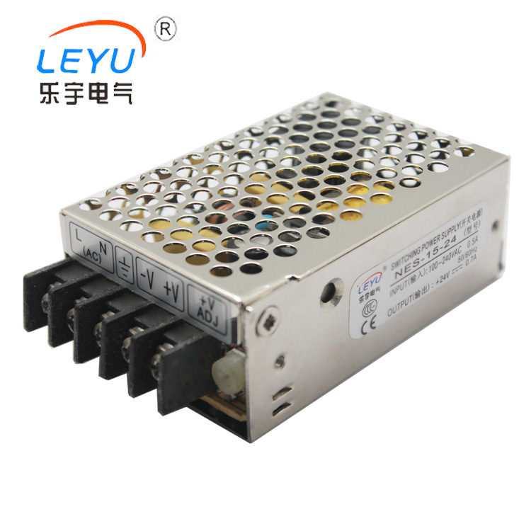 LEYU NES-15-48 15W 0.35A 48V Single Output Power Supply High Quality nes 15 48 ac dc mini size 15w led power supply