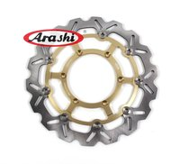 Arashi 1 PCS CNC Motorcycle Front Brake Disc Brake Rotors For SUZUKI DRZ SM 400 2005