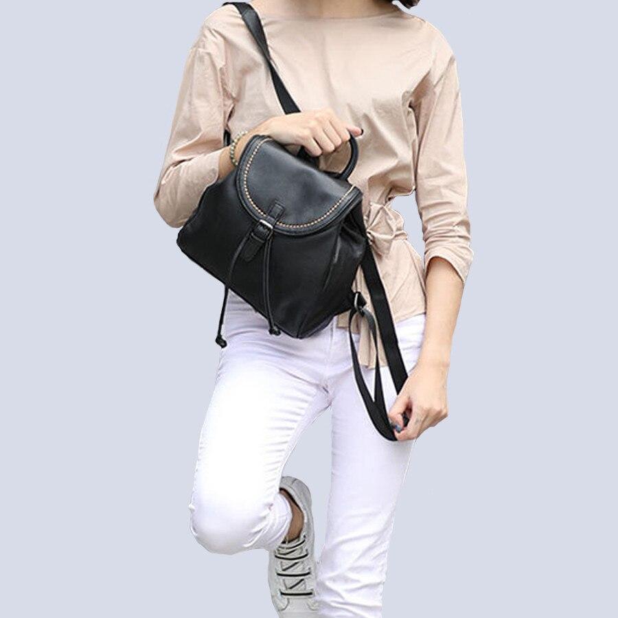 Fashion backpacks for school teenagers girls Bookbag Genuine leather Women Backpack School College Female Girls bagpack Mochila
