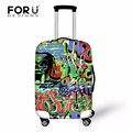 Багажа защитные чехлы для путешествия камера случае чемодан cool граффити дизайн аксессуаров для путешествий тележка эластичным мешок охватывает