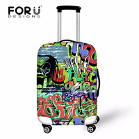 Luggage Protective Covers For Travel Luggage Case Suitcase Cool Graffiti Design Travel Accessories Trolley Elastic Bag