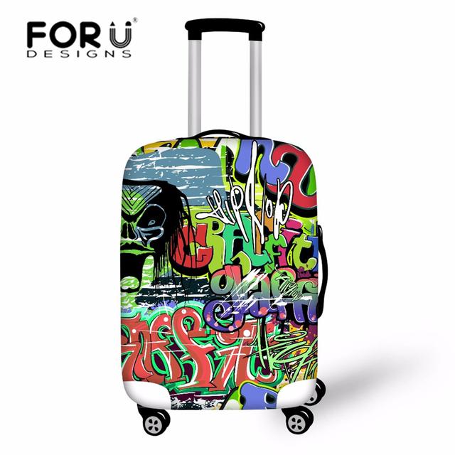 Bagagem tampas de proteção para o caso de bagagem de viagem mala cool graffiti projeto acessórios de viagem saco do trole elástica cobre