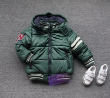 Зима мода ребенок 2016 плюс бархат утолщение хлопок-ватник топ куртка бесплатная доставка