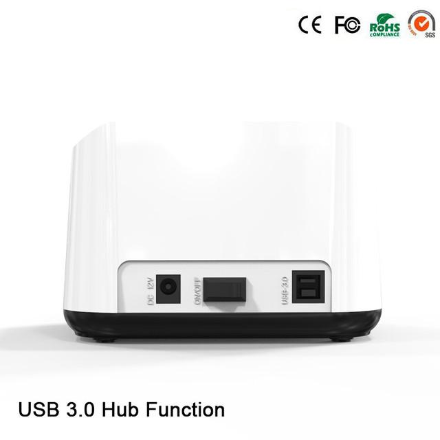 1 bahía dock station 2.5 ''3.5'' sata hdd usb 3.0 5 gbps caja externa de disco duro hdd caddy con 3 puerto USB HD03HUB