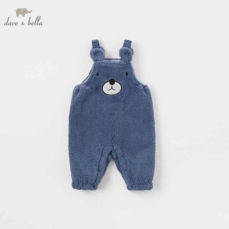DBW8214 dave bella winter baby boy blue bear sleeveless romper infant toddler jumpsuit children boutique romper 1 piece цена 2017