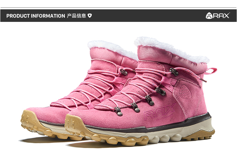 d30e5678590 Rax Mens Warm Fleece Boots Walking Shoes Men Breathable Snow Boots Thermal