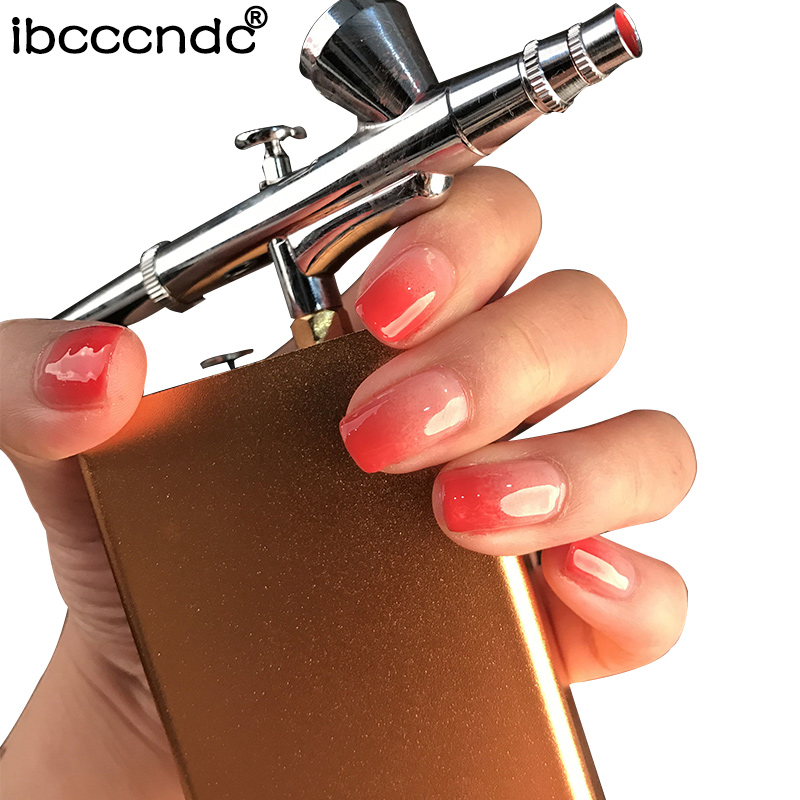 цена на Airbrush Nail Paint Multifunction Air Brush Kit Spray Gun For Nail Art Painting Body Tattoos Spray Cake Model Gradient Nails