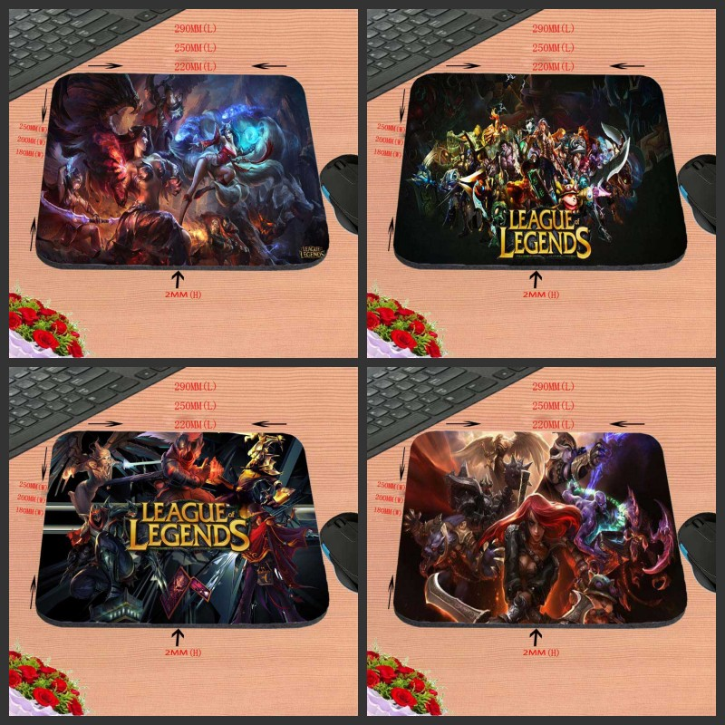 Mairuige Latest Arrival League of Legends LOL Gaming Rubber Mouse Pad 180*220*2mm or 250 ...