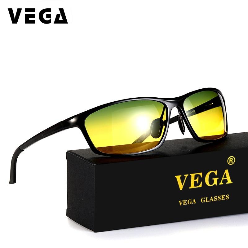 VEGA alumīnija magnija vadītāja saulesbrilles naktī HD redzes dienas nakts brilles Polaroid objektīvu vadīšanai 2179B