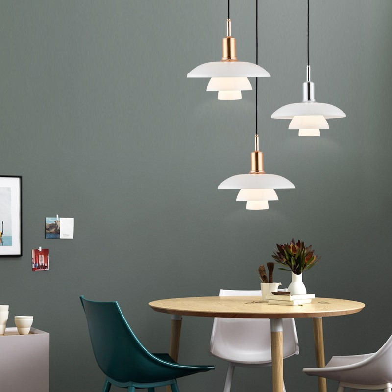 Nordic Designer Pendant Lights H3/4 Aluminum Loft Hanging Lamp for Living Room Bedroom Kitchen Home Decor Suspension Luminaire-in Pendant Lights from Lights & Lighting