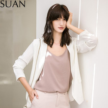 SUAN 2017 Ladies Blazer Feminino Formal Jacket Women's Blazer & Suits Female Women Suit Office Ladies S2662 white Blazer
