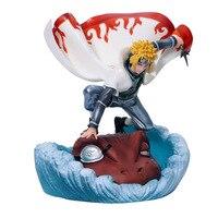 Anime figures Naruto Namikaze Minato Gama Bunta Shippuden painted action toys figure toy doll kids gift F7773