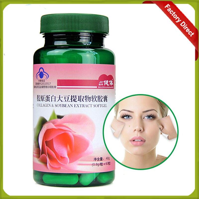 800mg *60 Pcs/Bottle Best Skin Care Anti-Aging Collagen Capsule Skin Whitening Pills  1 bottle melatonin softgel melatonin soft capsule improve health anti aging protect prostate improving sleep