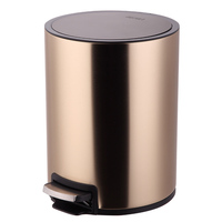 Pedal trash Home toilet Stainless steel living room kitchen Creative European style round tube