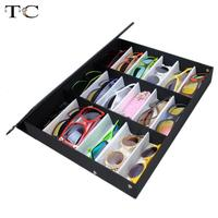 Factory Qutlet 18 Grid For Sunglass Eyewear Jewelry Watches Accessories Display Case Box Tray Free Shipping