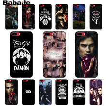 Babaite The Vampire Diaries Stefan Damon Salvatore Black Phone Case for Apple iPhone 8 7 6 6S Plus X XS MAX 5 5S SE XR