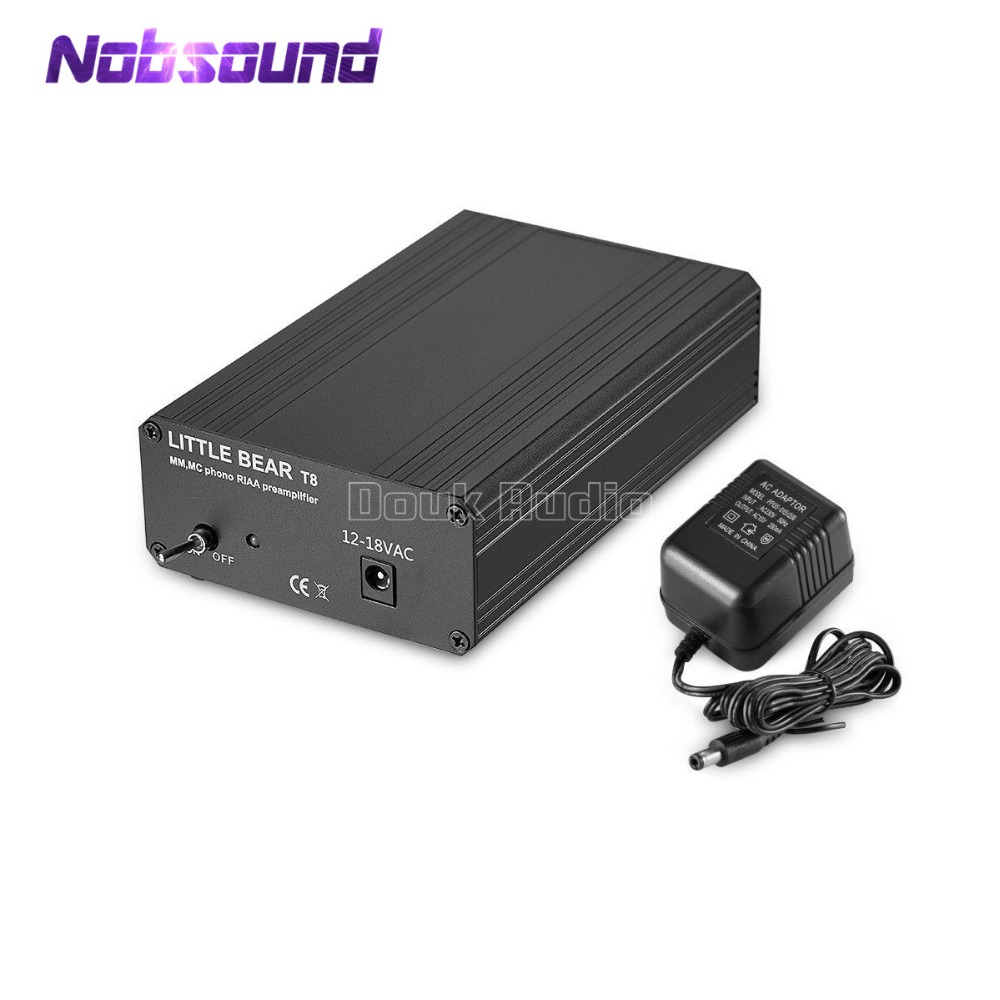 2018 Nobsound Little Bear T8 Phono RIAA Preamplifier MM&MC Turntable HiFi Mini Stereo Audio Pre-Amp 1pcs high quality little bear p5 stereo vacuum tube preamplifier audio hifi buffer pre amp diy new