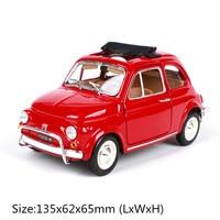 1/24 1968 Fiat 500L Simulation Alloy Vehicle Model Fiat Vintage Car Model