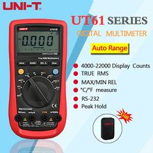 UNI-T UT61A UT61B UT61C UT61D UT61E Digital Multimeter true rms Auto Range AC DC Data Hold Multitester  +Gift uni t multimeters ut61a ut61b ut61c ut61d ut61e modern digital multimeter anto range ac dc voltage current true rms multimeter