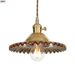 Image 3 - IWHD لوفت نمط الشمال الزجاج قلادة أضواء تركيبات الطعام غرفة المعيشة الرجعية خمر نجفة تركيبات Hanglamp اديسون