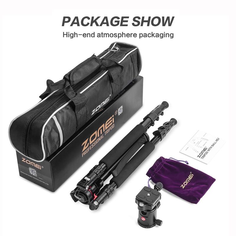 ZOMEI Q555 Camera Tripod Professional Alluminum Stand -13