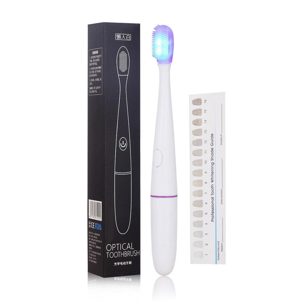 Sonic Электрический Зубная щётка Оптические Blue-ray стерилизации зубная щетка Силикона головка щетки щетка отбеливания зубов Dental Care