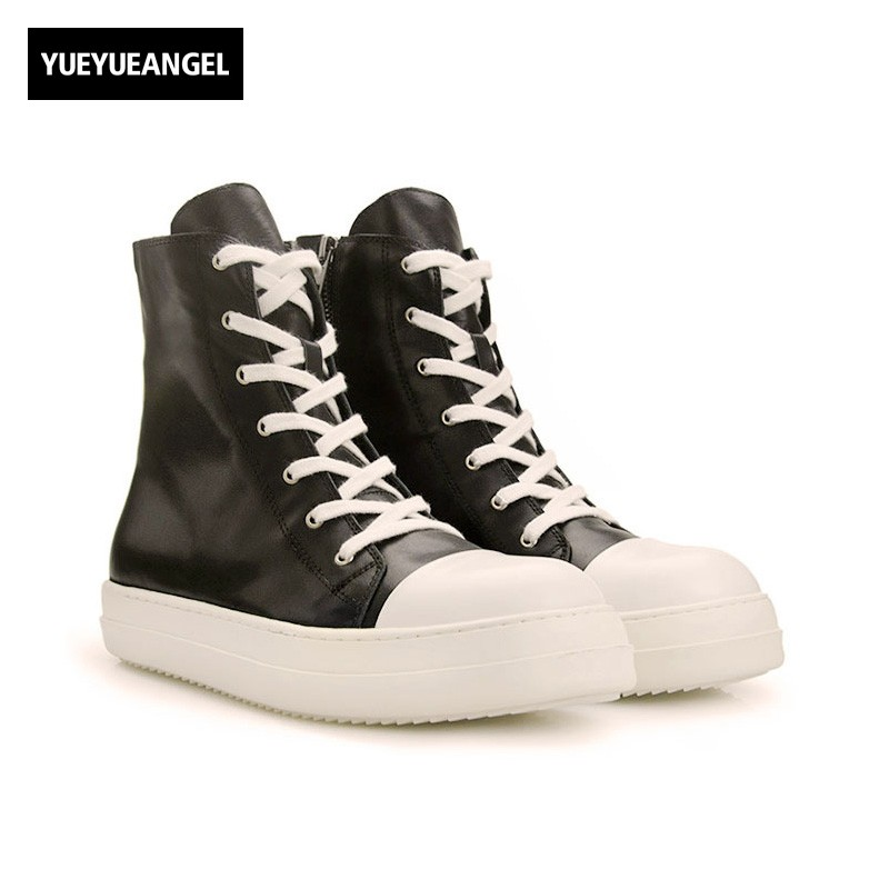 2017 Fashion European Hot Sale Retro Mens Casual Shoes High Heel Lace Up Round Toe Male Genuine Leather British Style Footwear