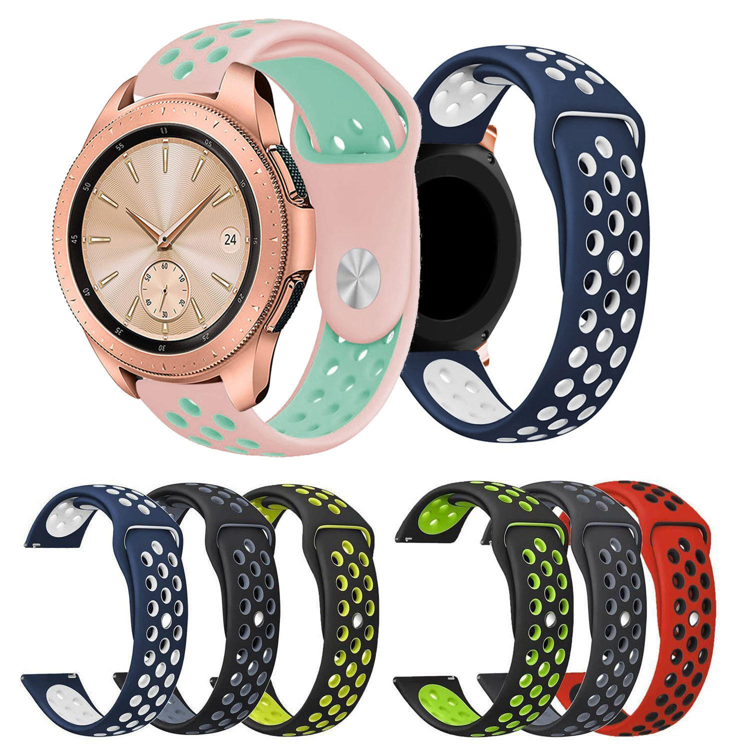 2018 High Quality Silicone Strap For Samsung Galaxy Watch 42mm Band Bracelet Watchband Sport Rubber Wristband