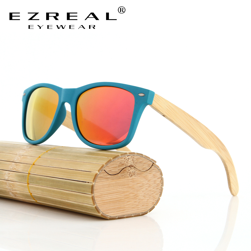 ᑎ Ezreal Nuevo Barato Gafas De Sol De Bambu Hecho A Mano De Bambu