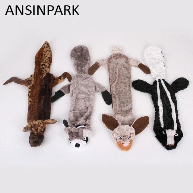 ANSINPARK carino giocattoli di peluche squeak pet lupo animale del coniglio di p