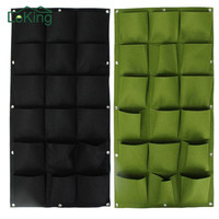 18 And 36 Pockets Garden Wall Vertical Garden Grow Bags For Plants Flower Hanging Felt Planter