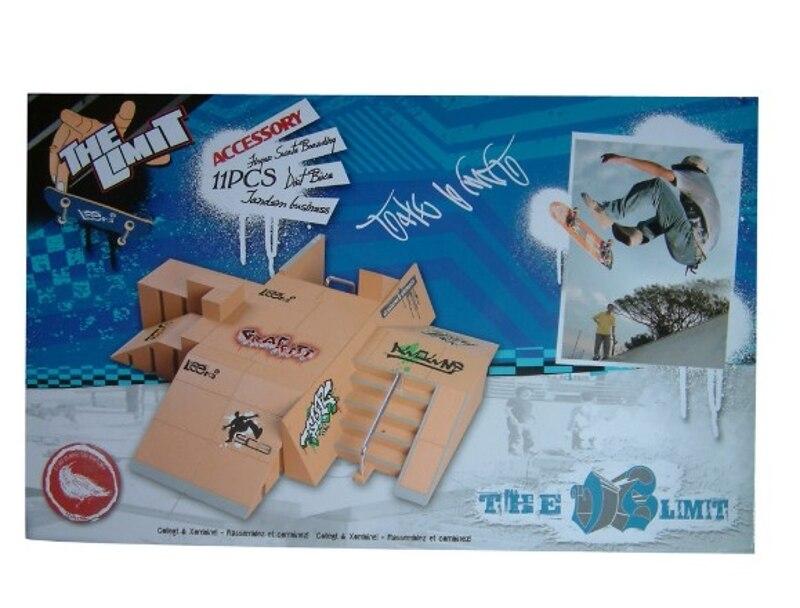 Pièces de rampe de Kit de parc de patin de 11 pièces pour la Mini planche à roulettes de doigt de touche - 3
