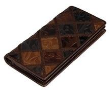 J.M.D Patchwork Genuine Leather Women Wallet Vintage Style Ladies Clutch Bag Purse 8090 цена