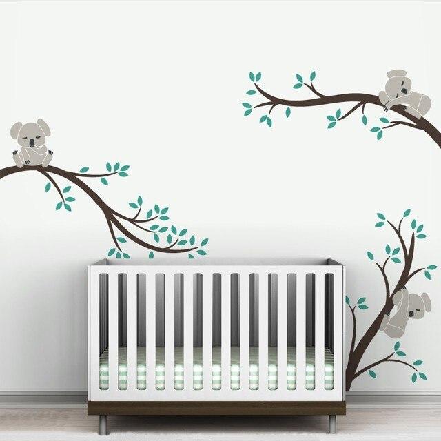 Gran tamaño extraíble Koala árbol ramas DIY pared calcomanías pared ...