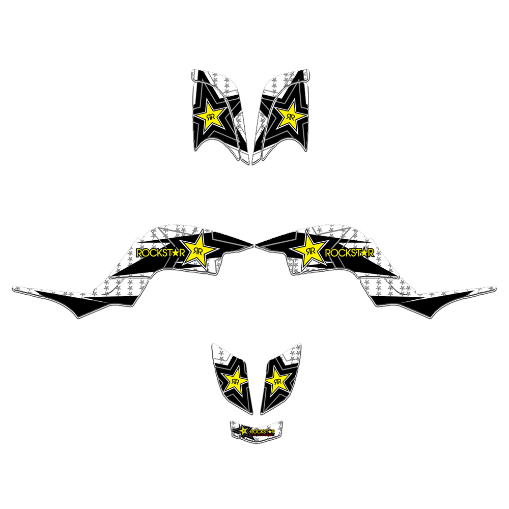 New Style DECALS STICKERS Graphics Kits FIT for Yamaha RAPTOR 660 YFM660 ATV